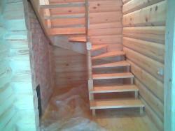 K4 деревянная лестница - Лестницы